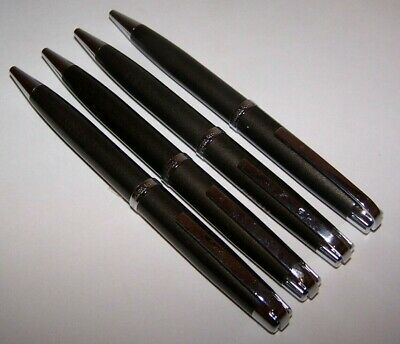 New 4 Waterford Metro Gunmetal Ballpoint Pens Pen