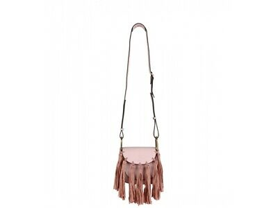 Luxurious Women Shaggy Simile Leather Fringe Mini Bucket Bag