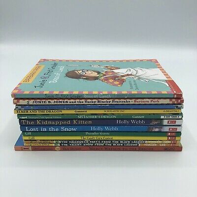 Lot of 12 Childrens Chapter books Junie B. Jones, Kids of the Polk Street School