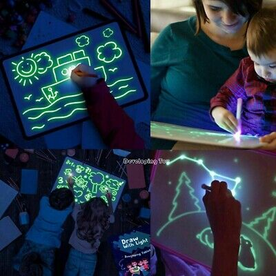 Draw With Light Fun & Developing Toy Drawing Tablet Board Magic Educational Set