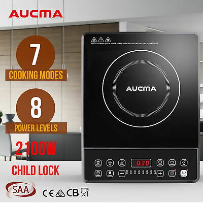 AUCMA Electric Portable Induction Cooktop Cookware Ceramic Glass Top Cooker