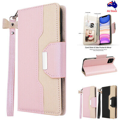 Leather Flip Magnetic Card Slot Wallet Case Stand Cover for iPhone 11 Pro Max