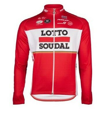 Vermarc Official Team Lotto Soudal Long Sleeved Cycle Cycling Bike Jersey XXL