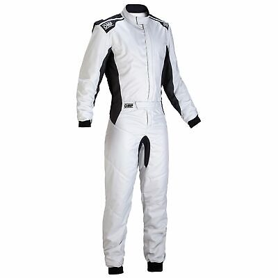 OMP One S FIA Approved Race Rally Competition Suit Silver Size 50