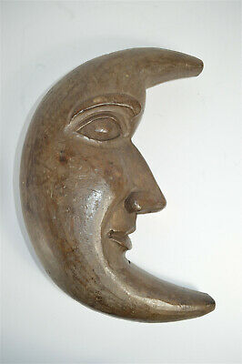 Superb antique hand carved wooden man in the moon French circa.1900