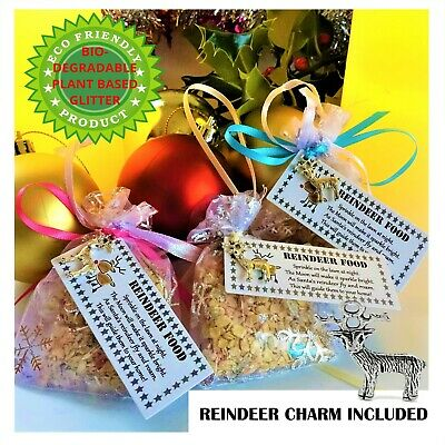Eco Magic Magical Reindeer Food Bag Kids Christmas Eve box Fillers Santa Dust