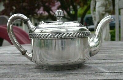 Vintage Reed Barton Silver soldered plated teapot heavy restaurant ware US Navy