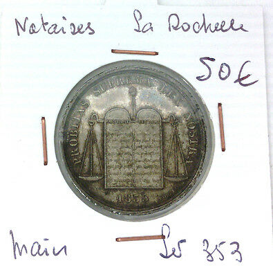 Token Notaries - the Rochelle - Punch Hand - Lerouge 353