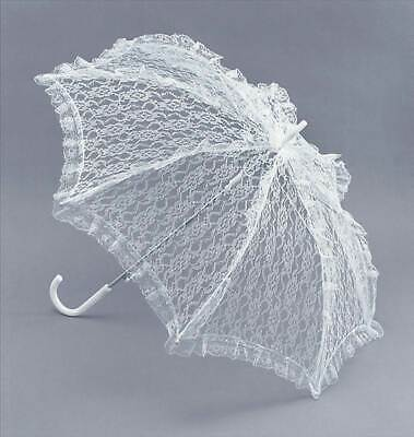 Parasol. White Lace, Historical Period Drama, Fancy Dress