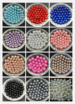 Wholesale10-100m ABS 6mm fixed Connection Round pearls beads Headwear decoration