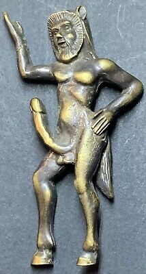 SUPERB - Priapus (fertility God). Ancient Greek Style Bronze Statuette.