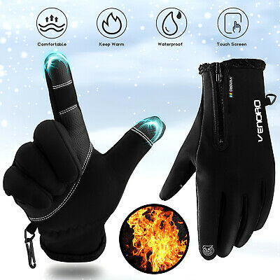 Winter Men Women Touch Screen Windproof Waterproof Outdoor Sports Driving Gloves