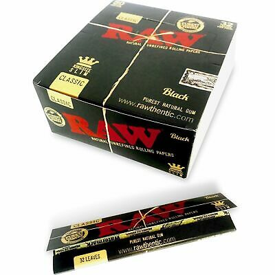 RAW Black Classic King Size Slim - Box 50 PACKS - Rolling Papers Ultra Thin