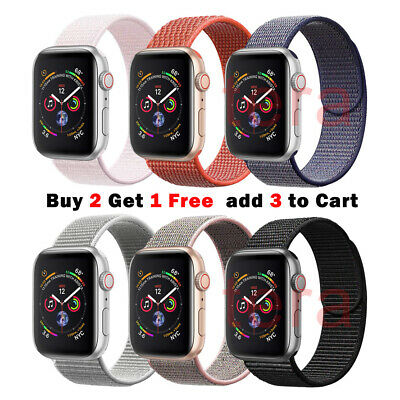 Sport Nylon Woven Loop Strap iWatch Band for Apple Watch Series 5 4 3 21 40mm 44