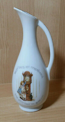 Vintage Holly Hobbie Style Small  Porcelain Jug with Gold Trim