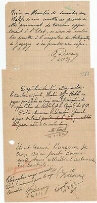 EGYPT ÄGYPTEN 1899-1914 2 LETTERS SIGNED by France Georges Émile Daressy LOT 7