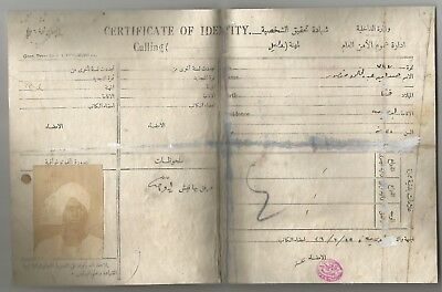 Egypt Ägypten 1926 Very Rare License Certificate For Tour Leader