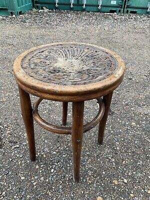 Brentwood Stool Steamed And Bent Wood Antique Vintage