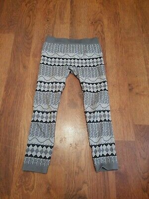 Faded Glory Girls Leggings Size Medium 7-10 Grey Black