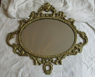 antique Regency carved giltwood oval mirror circa 1820-30