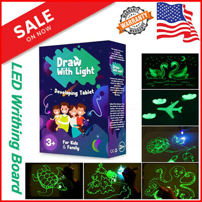 Draw With Light Fun And Developing Glowing Light A4 A3 Tablet Gift Toy For Kids