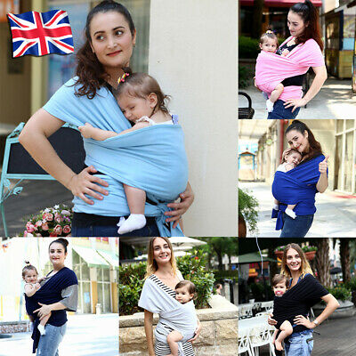 Baby Sling Stretchy Wrap Carrier Breastfeeding Birth To 3Yrs Soft Many Colours