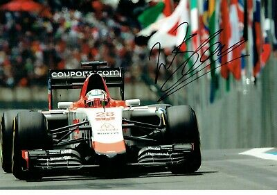 F1 Will STEVENS Signed Autograph 12 x 8 Photo, Manor MARUSSIA Formula One Team