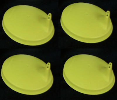 4 Tupperware Sipper Sippy Domed Seals Lids - Margarita Green - New in Package