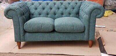 Surprising John Lewis Cromwell Chesterfield Small Sofa Stanton Teal Theyellowbook Wood Chair Design Ideas Theyellowbookinfo