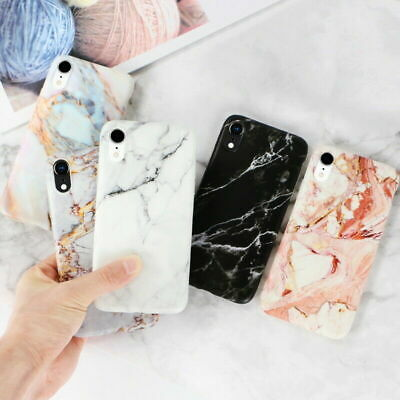 For iPhone 11 Pro Xs Max Xr 8 Plus Matte Marble Pattern Soft Silicone Case Cover