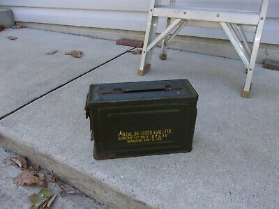 US Military Issue WW2 .30 Cal Ammo Boxes  W/Flaming Bomb