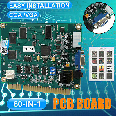 60in1 Multicade PCB Board CGA/VGA Output For Classic Jamma Arcade Game 800 x 640