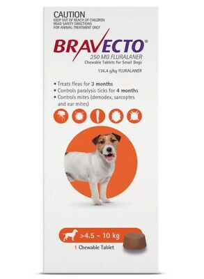 BRAVECTO Chewable Tablet for Small Dogs 4.5-10kg 1 chew