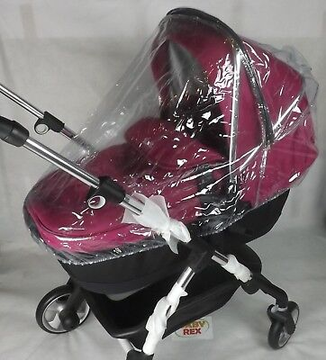 2 IN 1 PVC RAINCOVER FITS Mothercare 4-Wheel Journey CARRYCOT & PUSHCHAIR