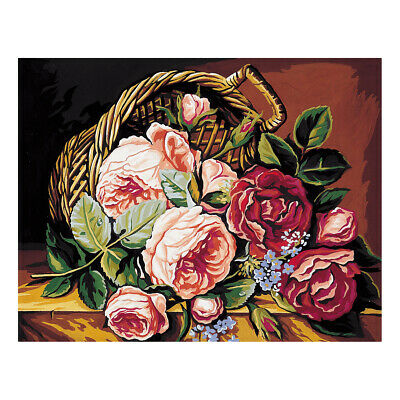 Royal Paris Tapestry Printed Canvas Basket of Roses | 98801420148