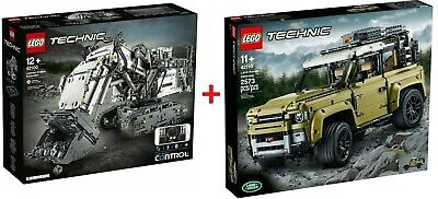 LEGO® TECHNIC 42100 Liebherr R9800 + 42110 Land Rover Defender - IN HAND - NEW