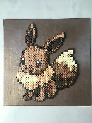Pixel Art Perles A Repasser Tableau Du Pokemon Evoli Eur