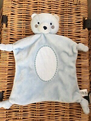Boots Mini Club Blue Teddy Bear Baby Comforter Knotted Corners