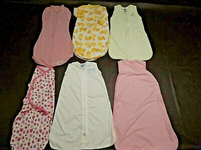 Lot of 6  Sleep Sacks-Swaddle Me-Bags 3-9 Months Cotton & Blanket    Exc.