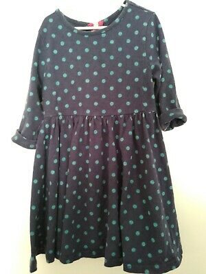 Joules Original Girls Blue Polka Dot Pockets Play Dress Size 6Y 6