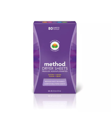 method Lavender + Cypress Dryer Sheets - 80ct