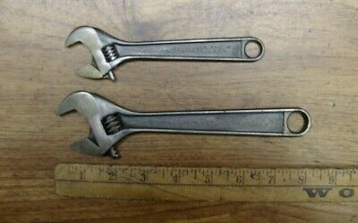 "2 Vintage Crescent Brand Adjustable Wrenches,6"" & 8"",Excellent Condition"