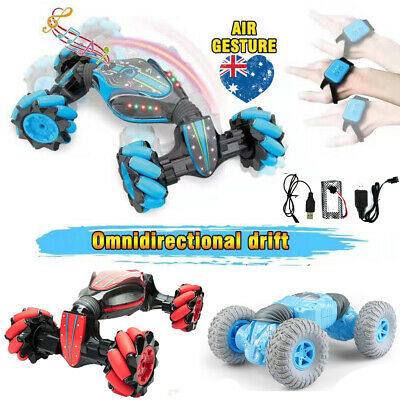 Remote Control Off-Road  Gesture Sensing 4WD Double Sided Flip RC Stunt Car AU