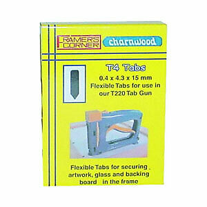 Rigid Tabs for the Picture Frame Assembly Tab Gun