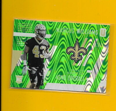 28596 Marcus Williams 2017 Unparalleled #284 Lime Green Saints Rc #148/499 🏈