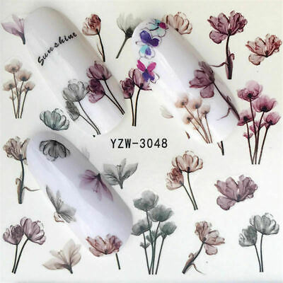 1 Sheets Decoration Decals Tips Manicure Transfer Flower 3D Nail Art Stickers