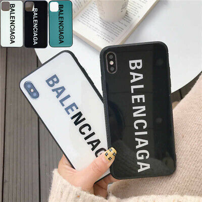 For iPhone 11 7 8  PRO XR XS MAX Fashion Design Apple Phone Tempered Glass Case