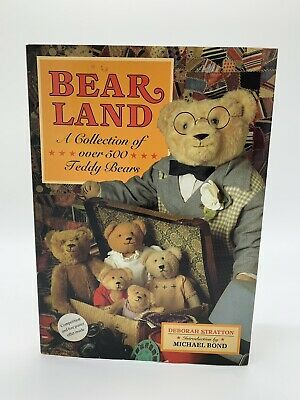 Bear land a collection of over 500 teddy bears Book -Rare - Free shipping