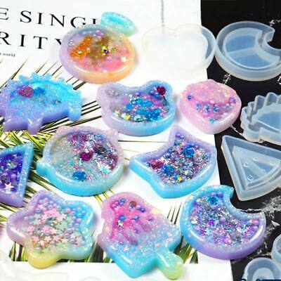 Silicone Resin Mold for DIY Jewelry Pendant Keychain Making Tool Mould Craft
