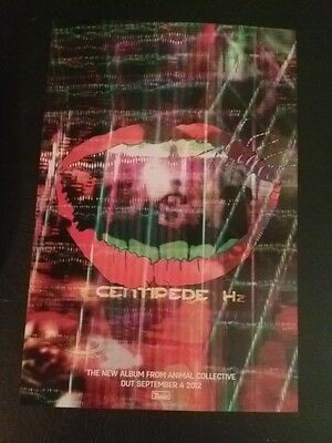 Animal Collective poster - Centipede HZ - 11x17 super rare - Brooklyn tube ship